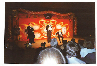 Vintage 80s PHOTO Knott's Berry Farm Bird Cage Theatre Stage w/ Performers