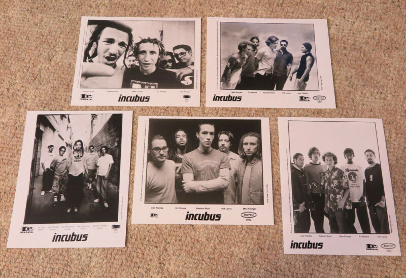 Incubus - Collection of 5 record company publicity photos
