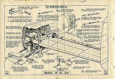 WW2 AVRO LANCASTER BOMBER SERVICE MANUAL, GROUND CREW ISSUE.