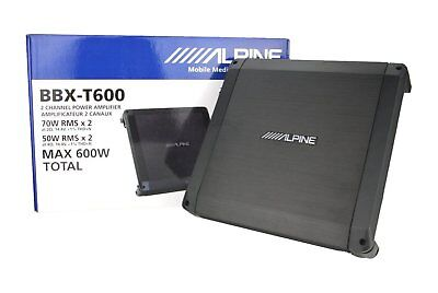 Alpine BBX-T600 2-Channel Full Range Voice Bass 300 W Amplifier 70W x 2 @ 2 ohm ()