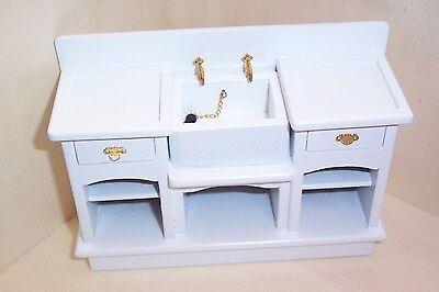 Küchenspüle in der Farbe weiss  - Miniatur 1:12