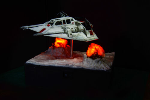 Pro-Built Star Wars Bandai 1/48 Scale Snowspeeder with LED Display