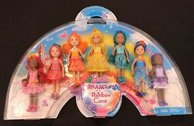 Mattel Barbie Dreamtopia Rainbow Cove 7 Pack Chelsea Doll Set Colors Kelly Style