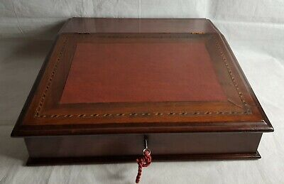 Beautiful Antique Large Desk Top Wooden Writing Slope