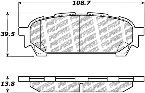 Disc Brake Pad Set fits 2003-2008 Subaru Forester Impreza