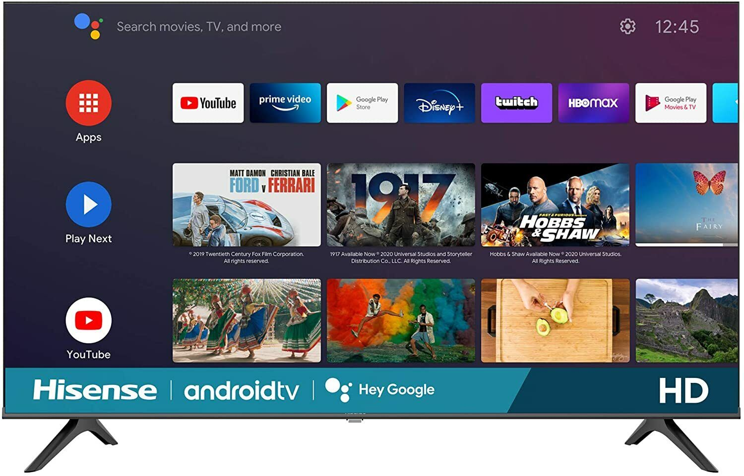 Smart TV Hisense 32-Inch Android Platform With Voice Remote 2020 Newest Model - $189.90