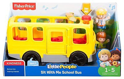 DAMAGED BOX - Fisher-Price Little People Sit With Me School Bus Activity Toy