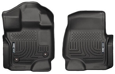 - HUSKY WeatherBeater Front Floor Mats for 15-19 FORD F150 F-150 EC CC Black 18361