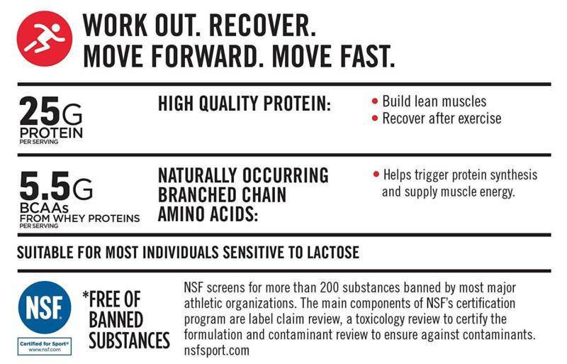 Muscle Protein Powder, Vanilla, 25g Protein,