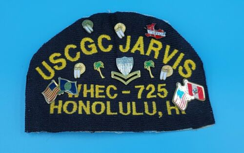 USCG Coast Guard USCGC Jarvis WHEC-725 patch with cruise pins attached