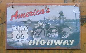 New-Route-66-8-x-5-Home-Decor-Sign-Americas-Highway-Plaque-Get-Kicks-Retro