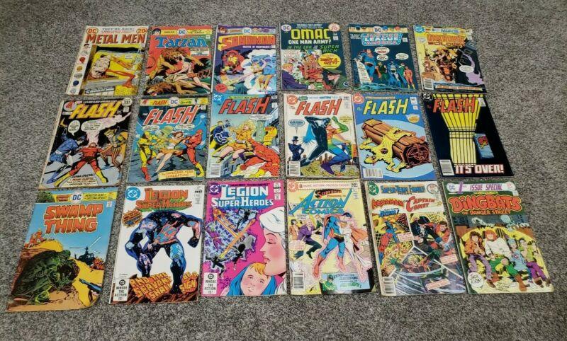 Bronze Age Lot DC The Flash Justice League Swamp Thing Action Comics Superman