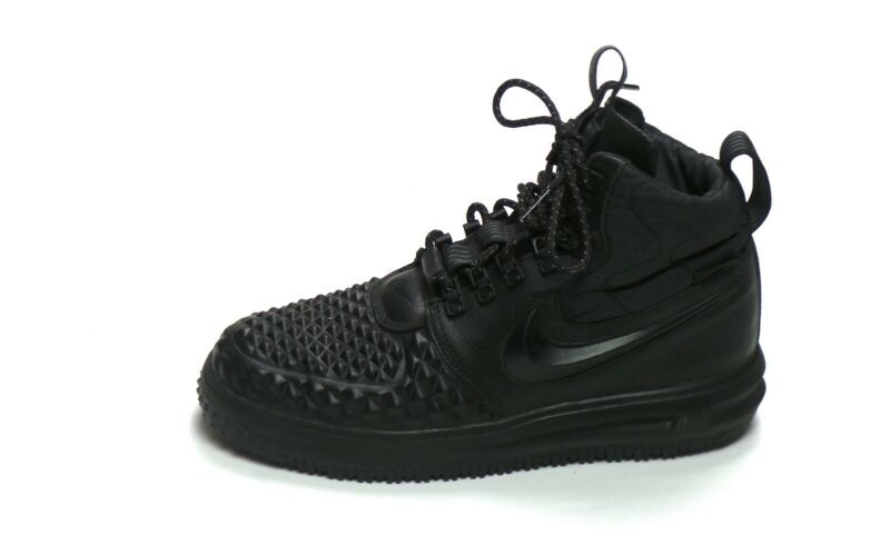 best loved c1cba 1d8dd Nike Lunar LF1 Air Force 1 Duckboot  17 Triple Black Anthracite Boots 916682 -002