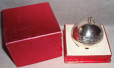 MIB 1971 Wallace #1 Limited Edition Silver Plated Sleigh Bell Christmas Ornament