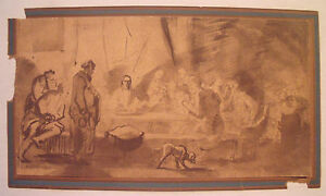 rare-old-Last-Supper-Mezzotint-print-on-laid-paper-after-Rembrandt