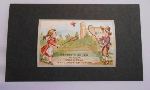 Victorian Trade Card Ferris & Jones Pike