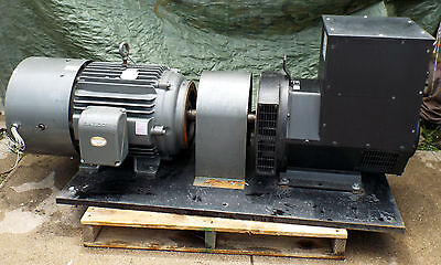1 Used Winco Stamford 2-brg Generator W Baldor Zdm4316t Vector Drive Motor