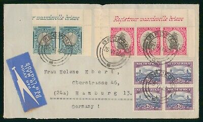 Mayfairstamps South Africa 1950 Bedford to Germany Airmail cover wwp12659