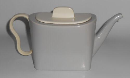 Franciscan Pottery Metropolitan Grey/White Teapot w/Lid