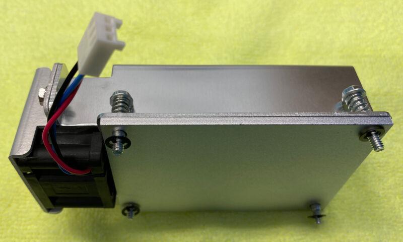 Aluminum Heatsink Cooling Fin Radiator 91.50 x65.25 x 34.75mm with 3 wire Fan