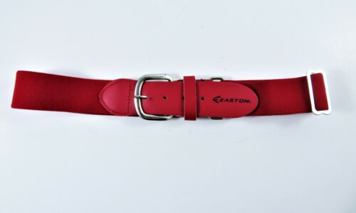 Easton Baseball Belt Youth Kids Red Adjustable Elastic Faux Leather Tabs 20-32""