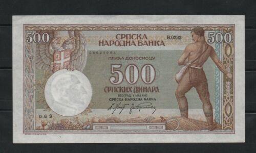 SERBIA 500DINARA 1942 UNC