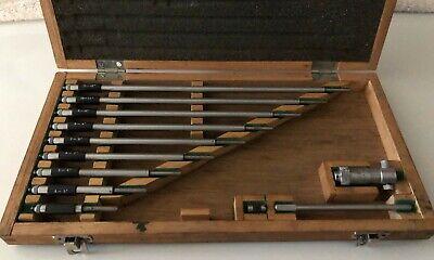 Mitutoyo 141-133 Inside Micrometer Set 3 To 12 Woriginal Case