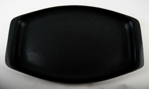 "Bennington Potters Black Velvet Oval Serving Platter 17""  Vintage Pottery #1682"