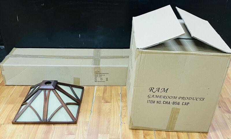 Ram CHA-B56 Cappuccino Game Room Pool Table Canopy Wood Light Fixture Kit