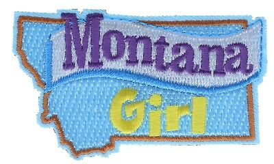Montana Girl 2 inch Embroidered Hat Shoulder Patch F3D12K