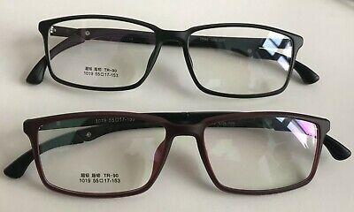 Large Wide Mens TR90 Plastic Frame Light Flexible Rectangle Prescription (Wide Prescription Glasses)