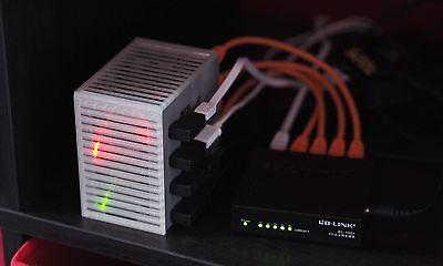 Update Server - Tiny Raspberry Pi 'Server Rack' Case *Updated for Pi4* (4 slots) V3