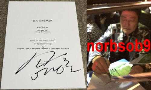 SONG KANG HO SIGNED AUTOGRAPH SNOWPIERCER FULL 111 PAGE SCRIPT w/EXACT PROOF