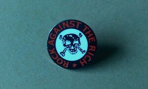 ROCK AGAINST THE RICH METAL BADGE joe strummer clash class war anarcho corbyn