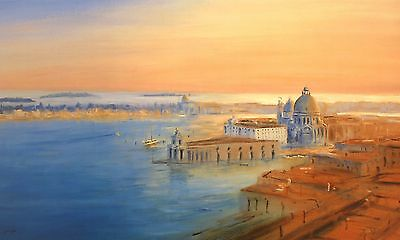 "JUSTIN TEW ""Venice I"" salute adriatic SIGNED LTD ED! SIZE:56cm x 85cm NEW RARE"