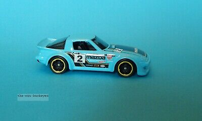 2015 Hot Wheels Loose Mazda RX-7 RX7 Baby Blue Kmart Brand New Combine Shipping