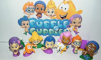 Nickelodeon Bubble Guppies Figure Set of 12 with Gil, Molly and More! (Bubble Guppie Toys)