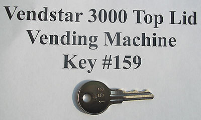 Vendstar 3000 Candy Vending Machine Top Lid Key 159 With A Stamped Number