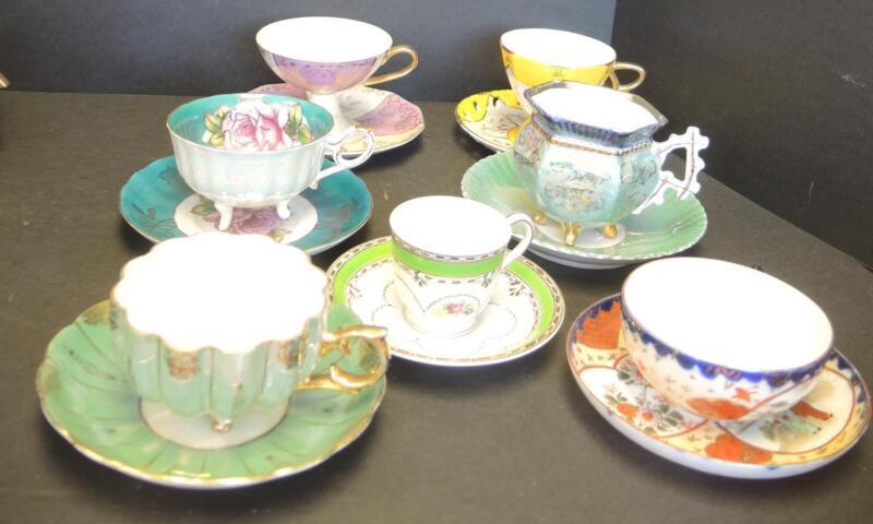Seven Vintage & Antique Cups & Saucer - Made In Japan