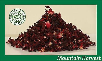 Hibiscus Flowers (100% ORGANIC CUT HIBISCUS FLOWERS  (HIBISCUS SABDARIFFA) 1 2 4 6 8 10 12)