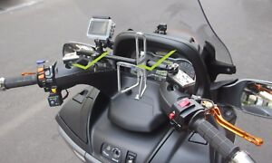 GILERA FUOCO 500 LT ANODIZED CNC CROSSBAR (for GPS,Cellphone,Camera, Speakers..)