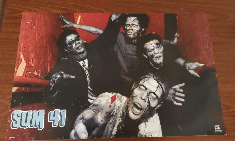 Sum 41 Poster Zombies #6593 Original From 2003