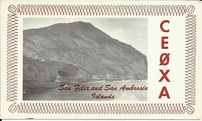 OLD VINTAGE CE0XA SAN FELIX AND SAN AMBROSIO ISLANDS AMATEUR RADIO QSL CARD