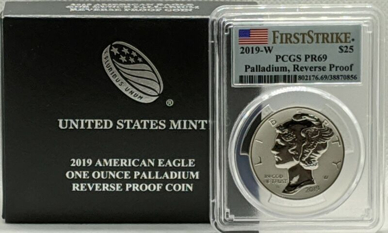 2019-W American Palladium Eagle Reverse Proof 1 oz $25 PCGS PR69 First Strike
