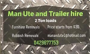 Man Ute and Trailer hire Brisbane City Brisbane North West Preview