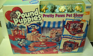 6221-NRFB-Vintage-Galoob-Pound-Puppies-Pretty-Paws-Pet-Show-Playset
