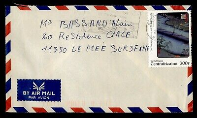 DR WHO 2005? CENTRAL AFRICAN REPUBLIC SLOGAN CANCEL AIRMAIL TO FRANCE  g16502