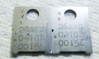 Set Of 26 Gauge Eubanks Strip Blade Die Type .025 X .0410 Collinear Tooling