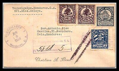 GP GOLDPATH: HONDURAS COVER 1928 REGISTERED LETTER AIR MAIL _CV685_P09