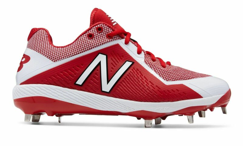 New Balance Low-Cut 4040v4 Metal Baseball Cleat Mens Shoes Red with White